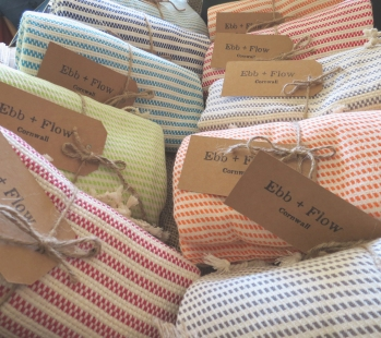 Ebb + Flow Cornwall - handmade Hammam towels and ponchos