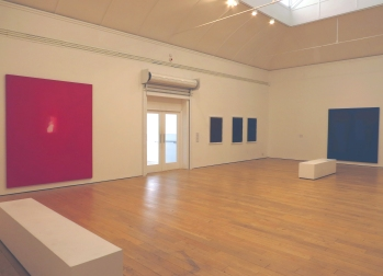 Inside The Main Gallery housing the Robyn Denny Solo Exhibition