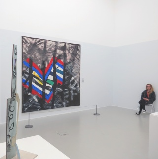 Gallery One - Left: Peter Lanyon 'Tall Country and Seashore' (1951) Right: Sanda Blow 'Selva Oscura' (1993)