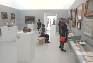 Gallery Two - Foreground: Constantin Brancusi 'Head' (c.1919–23) Background: Graham Sutherland OM 'Black Landscape' (1939–40)