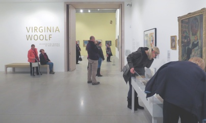 Looking through into the exhibtion space (no photographs allowed of the paintings in this space)