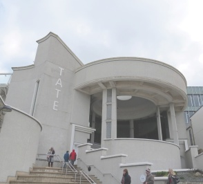The iconic Art Deco entrance to the Tate St Ives