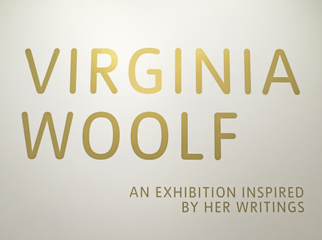 The beautiful gold signwriting on the entrance to the exhibition