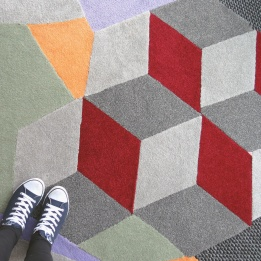 The bespoke carpet in the Clore Sky Studio