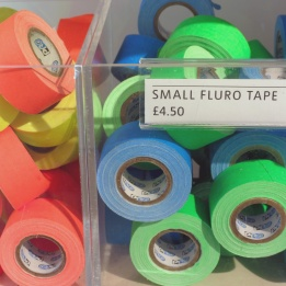 The fluro tape in the shop