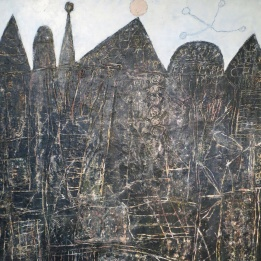 Jean Dubuffer 'Grand paysage noir' (detail)